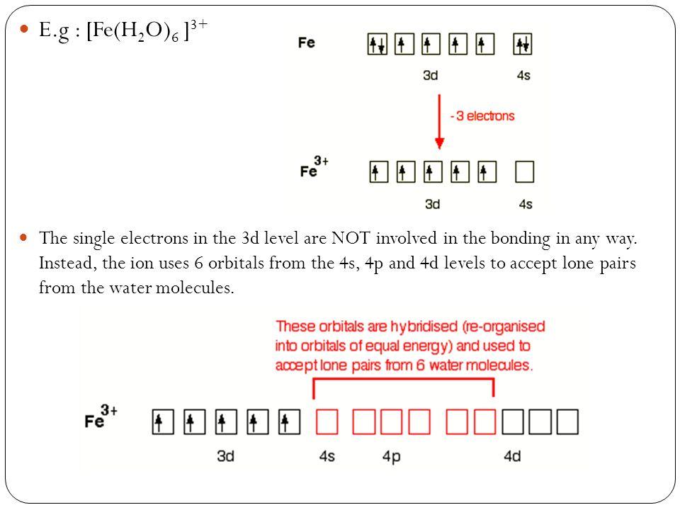 E.g : [Fe(H2O)6 ]3+